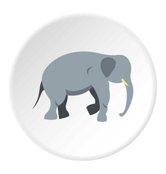 Elephant icon circle vector