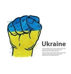 Fist flag ukraine kiev vector