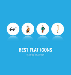 Flat icon disabled set of injured ancestor vector