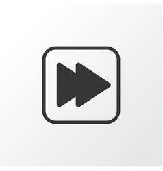 Forward music icon symbol premium quality vector
