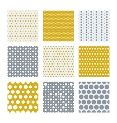 Gold and silver dots seamless pattern vector