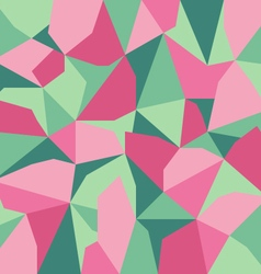 green pink abstract polygon background vector image vector image