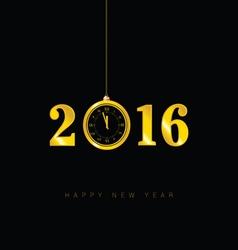 happy new year clock 2016 vector image