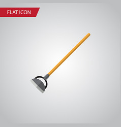 Isolated hoe flat icon tool element can be vector