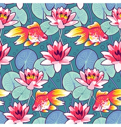 Lily pattern fish vector