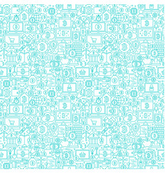 Line cryptocurrency white seamless pattern vector