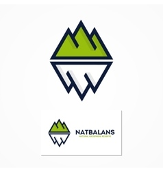 Logo combination of a mountain and iceberg vector