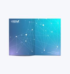modern template for brochure leaflet flyer vector image vector image