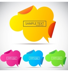 origami speech cloud background vector image vector image
