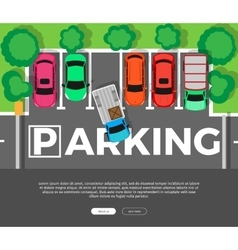 Parking Conceptual Web Banner Car Park vector image