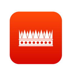 Regal crown icon digital red vector