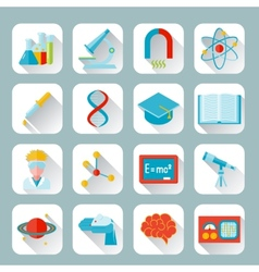 Science and research icon flat vector image vector image