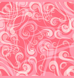 seamless vintage curly pink pattern vector image vector image