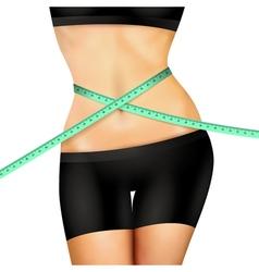Slim fitness woman vector