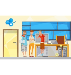 Software engineering office composition vector