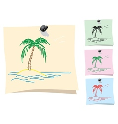 Sticker Palm and island vector image vector image