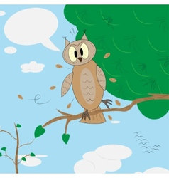 Surprised owl vector image