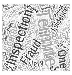 Termite inspection fraud word cloud concept vector