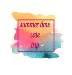 Watercolor summer sale trip banner vector