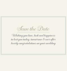 Wedding card invitation design style vector