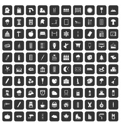 100 drawing icons set black vector