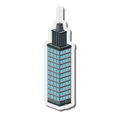 Tall building icon vector