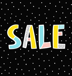 Sale sign on black background vector