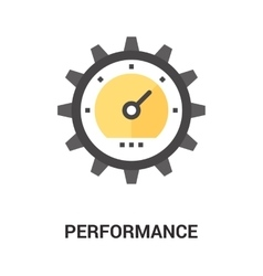 Performance icon concept vector