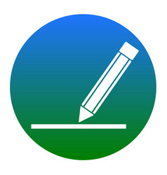 pencil sign white icon in vector image