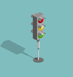 Traffic light isometric vector