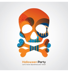 Halloween party skull vector