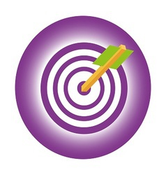 Design target to goal and focus arrow vector
