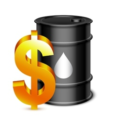 Oil barrel and dollar sign vector
