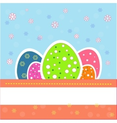 Pretty and nice easter eggs vector
