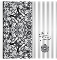 Grey geometric background vintage ornamental vector