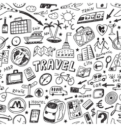 Travel seamless background vector