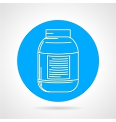Creatine can round icon vector