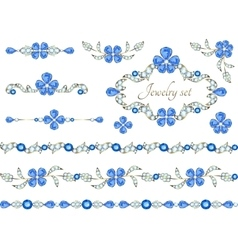 Jewelry decoration elements vector