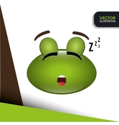 Sleeping frog design vector
