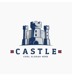 Abstract castle label sign or logo vector