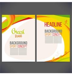 Abstract template design brochureweb sites vector