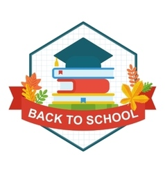 Back to school university hat logo vector