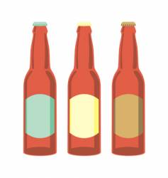 beer bottles set vector image