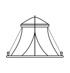 Camping tent icon image vector