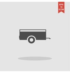 Car trailer icon concept for vector