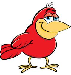 Cartoon smiling bird vector