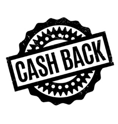 Cash back rubber stamp vector