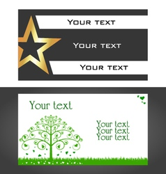design business cards vector image vector image