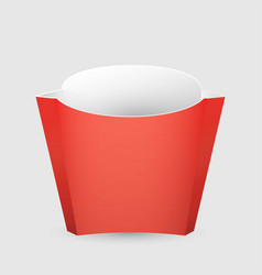 french fries red paper box on white background vector image