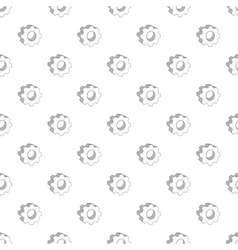 Gear pattern cartoon style vector image